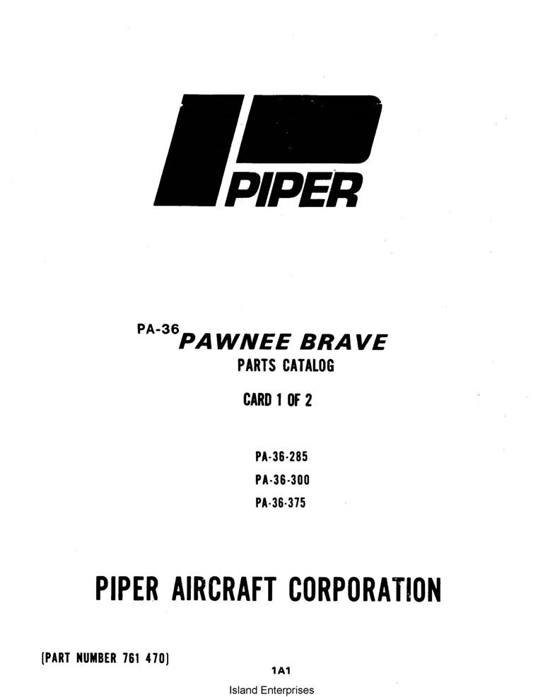 Piper Pawnee Brave PA-36-285//300//375 Service Manual