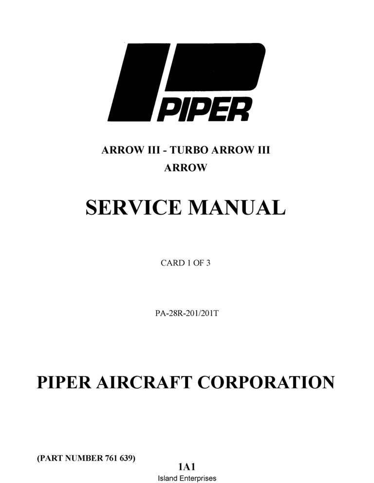 Piper PA-28R-201 Arrow III,201 Turbo Service Manual