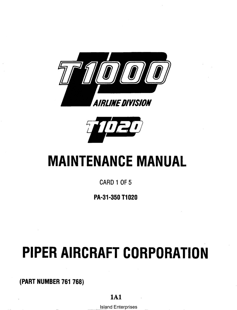 piper aircraft maintenance manuals download