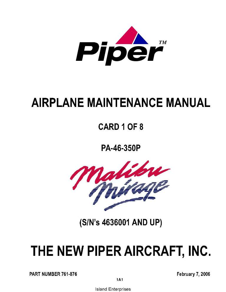 piper malibu mirage maintenance manual pa 46 350p part Piper Pawnee Specs PA 25 Pawnee Fuselage