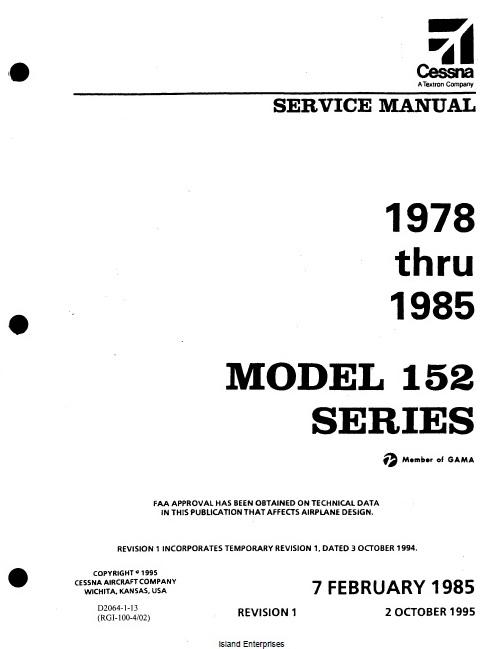 Cessna Model 152 Series 1978-85 Maintenance Manual