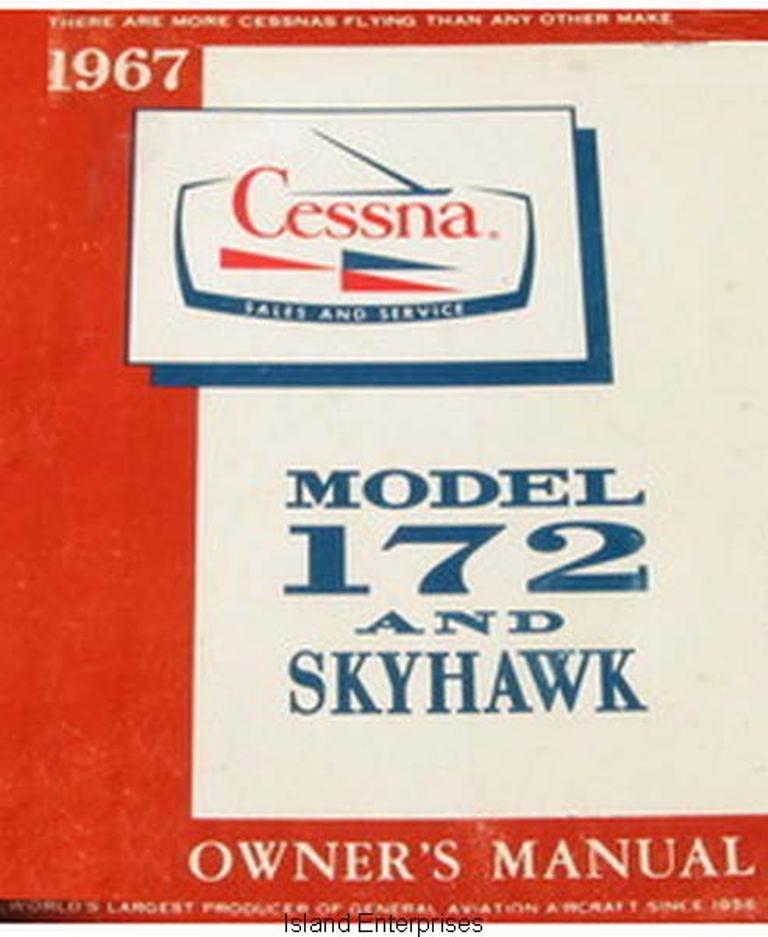 Cessna Model 172, C172H and Skyhawk Pilot's Operating Handbook 1967