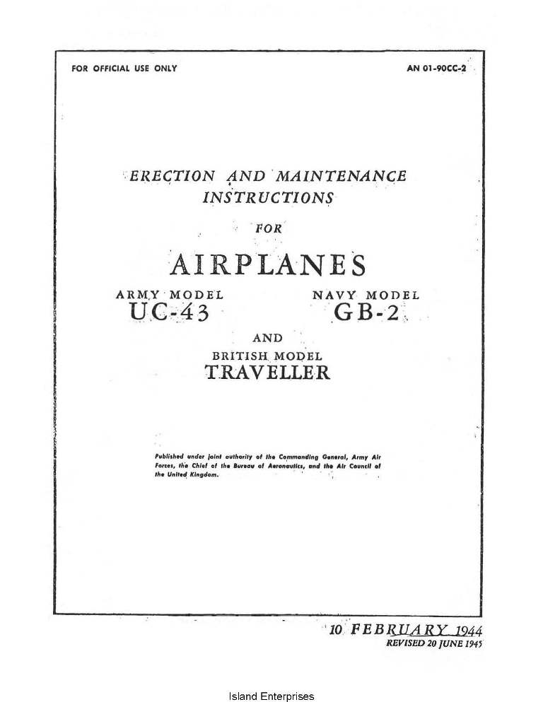 Beechcraft Uc 43 Gb 2 Travellers Airplanes Erection And