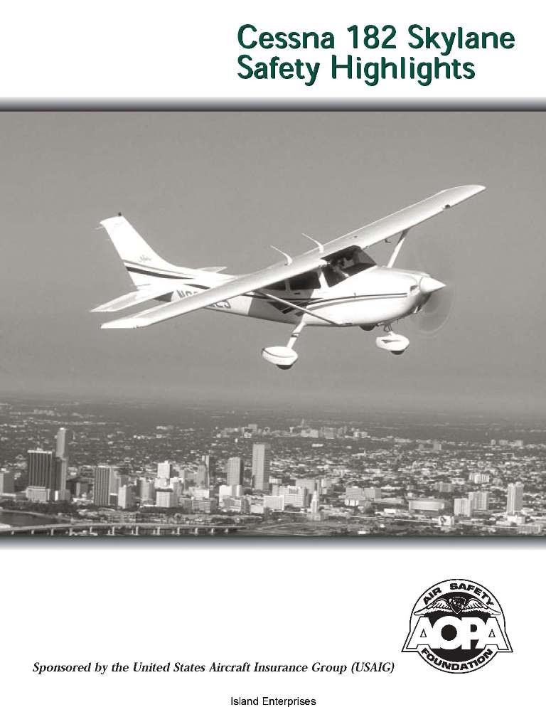 Cessna 182 Skylane Safety Highlights
