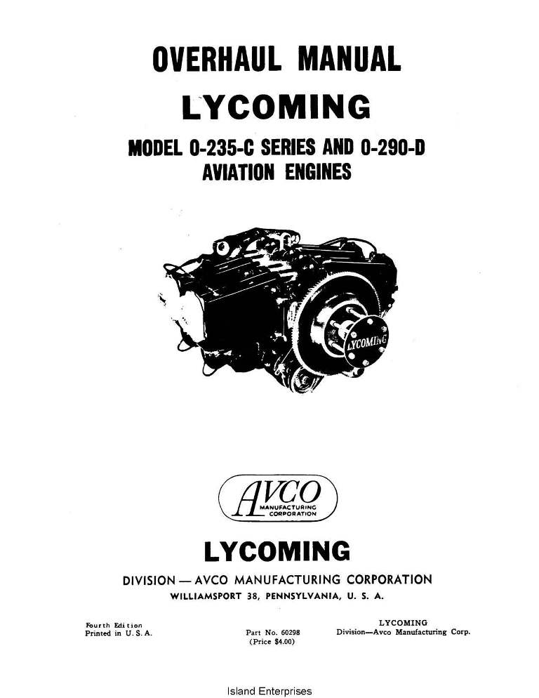 lycoming overhaul manual 60298 o