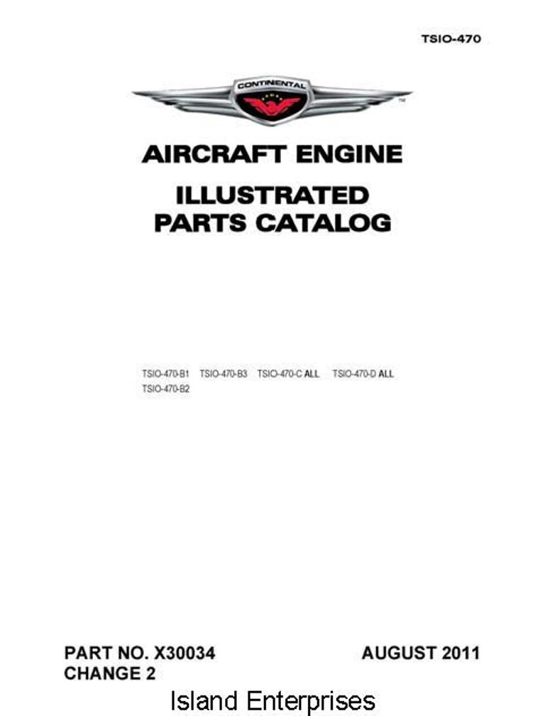 Continental Io 470 Parts manual