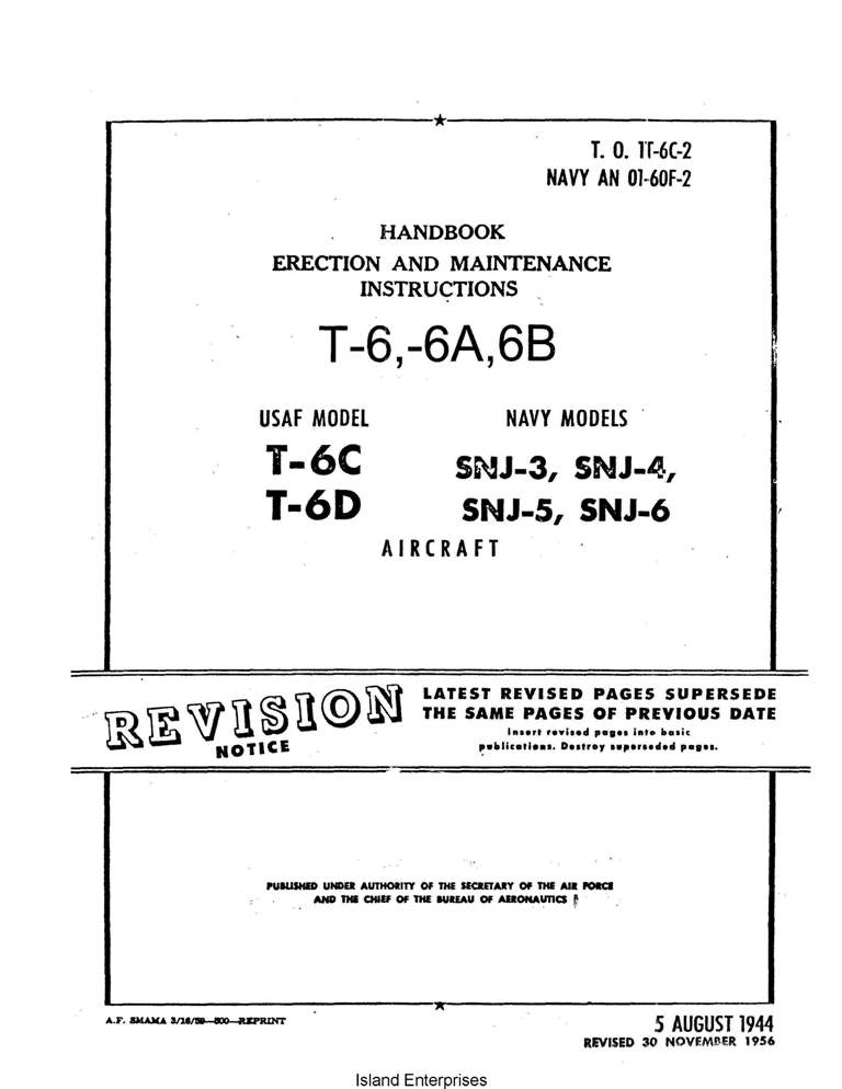 Erection and Maintenance Manual  L-16A and L-16B Reprint