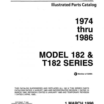 Cessna 182 Parts Manuals Archives – eAircraftManuals com