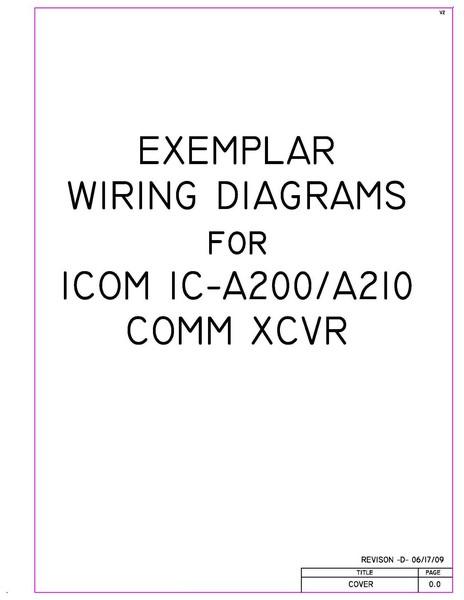 [SCHEMATICS_4NL]  Icom IC-A200/ A210 Comm XCVR Exemplar Wiring Diagrams | eAircraftManuals.com | Icom A210 Wiring Diagram |  | eAircraftManuals.comBest downloadable aircraft maintenance manuals