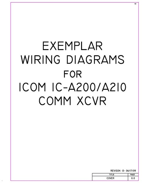 Icom Ic  A210 Comm Xcvr Exemplar Wiring Diagrams