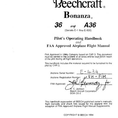 Beech 33 35 36 POH S Owners Manuals Archives